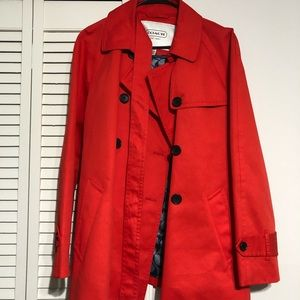 Coach red trench coat